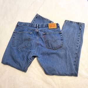Levi's 505 36x31 Straight Leg Medium Wash Jeans